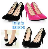PLUS  SIZE 32-43  2014 Fashion Princess Shoes Women Pumps Sexy High-Heeled Shoes Thin Heels  Wedding Shoes FREE SHIPPING