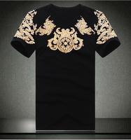 Free shipping Europe plus size brand XXXL 4xl 6xl 8xl men's clothing Large fashion top T-shirt Tshirt short-sleeve shirt xxxxl