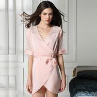 new 2014 lace sexy women robe / hollow out elegant women sleepwear summer nightgown pajamas plus size Free shipping