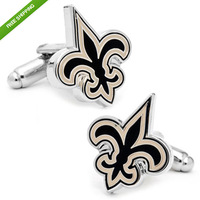 High Quality Fleur De Lis New Orleans Saints Football Cufflinks Cuff Links WITH THE Exquisite Box