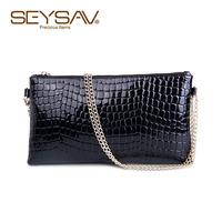 2014 new tide Black Crocodile hand bag female special fashion satchel female bag bag