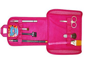 2pcs makeup case cosmetic Makeup Brushes set High quality Professional make up brush set with bag(China (Mainland))