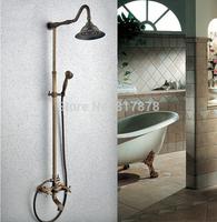 "Antique Brass Shower Faucet Set Concealed 8"" Rainfall Shower Head Spray Handle Shower se151"