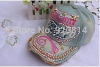 2014 Beautiful fashion women's canvas baseball caps fashion casual lady wear peaked caps letter design Denim cloth sun hat