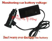 Car battery power tester digital voltage meter voltage detecting instrument for automobile instrument LED  display with line