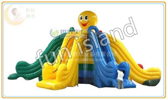 Calda stile piovra gigante scivolo gonfiabile con una piscina dalla