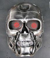 Horror cos terminator helmet Silver mask CS paintball Ghost creepy men resin props airsoft Cosplay Party Masquerade Halloween