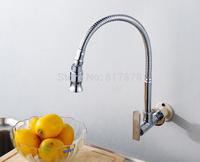 Free Shipping In wall mounted brass kitchen faucet  fold expansion DIY kitchen sink tap Washing machine faucet  se157