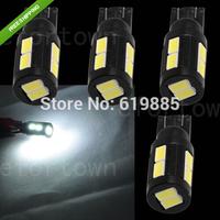 4x High Bright T10 168 194 W5W Tail Turn Signal 10 LED 5630 SMD Bulb Light White -194 168 501 W5W 147 152 158 159 184 192 1250