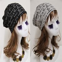hot 2014 Letter head hat Paragraphs female han edition of thin pile pile cap turban hat nightcap confined cap