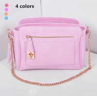 Western Style Fashionable Women Chain Tote handbag Faux Leather Candy Color Ladies Shoulder Messenger Bags With Tassel