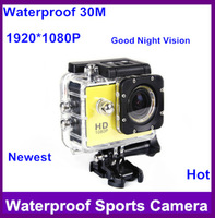 2014new! Action Camera Diving 30 Waterproof Camera 1080P Full HD SJ4000 Helmet Camera Sport Cameras Sport DV Gopro free shipping