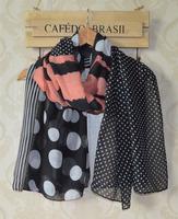 2014 fashion women summer spring scarf,Free shipping,Stripe print,Round dots print,viscose hijab,Muslin hijab,scarves wraps,cape