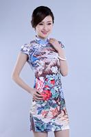 2014 Daily Improved Short Cheongsam Slit Retro Classic Size S - XXL  FS0025 - Free Shipping