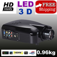 Portable projector LED home cinema projector with TV interface the best small video home theater LCD projector