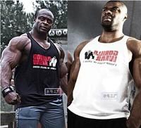 NY031 Fashionable Bodybuilding Fitness Men Cotton T Shirt Vest Men' Sleeveless Gym Tank Tops Sports Plus Size XL 6 Colors