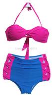 Free Shipping Drop shipping Factory Wholesales High Waist Bikini Cheap Sexy Swimsuits 1411G