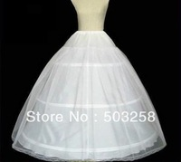 P12 three hoops appliqued edge petticoat with tulle fabric