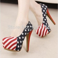 Hot selling women pumps thin heels round toe platform wedding shoes dark blue high heels girls shoes