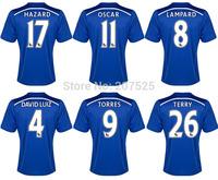 Thai Chelsea Soccer Jersey Blue Football Shirt, Cheap Thailand Chelsea Football Jersey Men Sportswear Free Shipping