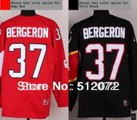 2014 Winter Olympic Team CA #37 Patrice Bergeron Men's Authentic Red/Black Hockey Jersey