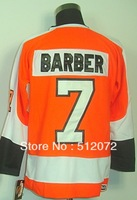 Philadelphia #7 Bill Barber Men's Authentic Throwback Home Orange Hockey Jersey