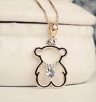 Hot-selling cutout zirconium diamond bear chain exquisite design necklace the entense short