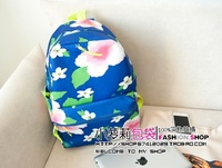 Free Shipping Fashion Ice Cream Canvas Banana Women Backpack School Bag Small Student Bag Female Shoulder Bag