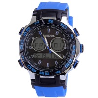 male sports watch with rubber watchband university students fashion watch digital quartz chronograph watch with 3ATM 7colors