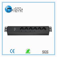 1.5U 19 inch rack pdu German PDU socket with surge protector (Power Distribution unit)