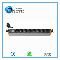 1.5U 19 inch rack pdu German PDU socket with current and voltage  (Power Distribution unit)