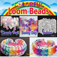 500pcs/pack UV Beads For DIY Loom Bands Bracelets, Mix-color UV Color Changing Beads Specail For Your Bracelets