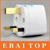 free shipping Universal EU US AU to UK AC Travel Power Plug Charger Adapter Converter Travel 200pcs/lot