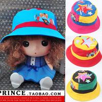Aircraft bear children bucket hats kids of mixed colors children summer hat kids boys large brimmed sun hat  new bonnet Children