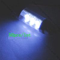 wholesale!50X White 37mm SMD 6-LED Car Festoon Dome Interior Light