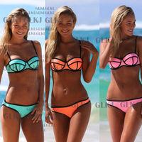Details about Women's Bandage Bikini Set Push-up Padded Bra Swimsuit Bathing Suit Swimwear