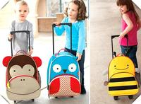 6 styles Children School Bags kid Cartoon wheeled bag Animal trolley Backpack Baby SchoolBag children backpacks