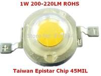 1000pieces/lot 1W LED Module ,led beads,LED light, 120-150LM LED Light source,Taiwan Epistar chip 45MIL,ROHS.