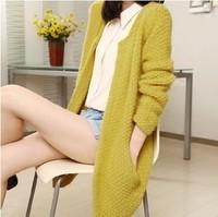 mohair cardigan loose sweaters 2014 women fashion winter korean style sweet wool casaquinho blusas de inverno 7 colors