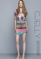 The New 2014 Ladies' Printed Cultivate One's Morality Dress National Wind Restoring Ancient Ways 5937 #