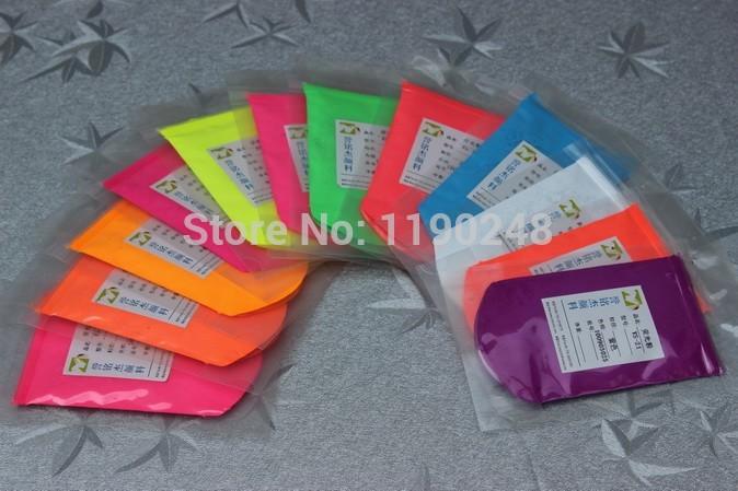 green, orange, yellow red,pink fluorescent pigment,phosphor powder,organic pigment(China (Mainland))