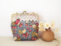 Small fresh embroidery strawberry female savce handmade small handbag cross-body bag female