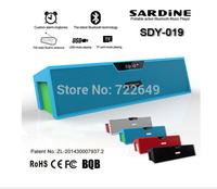 SDY-019 Original Sardine HIFI Portable Bluetooth Speaker 10w FM Radio wireless USb Amplifier Stereo Sound Box with mic free gift