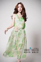 The New 2014 Han Edition Dress New Net Yarn Printing Princess Dress Lyq0244