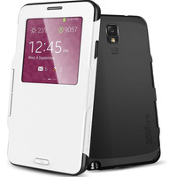 new Fashiong Luxury SPIGEN SGP Slim Armor  Case Cover for Samsung Galaxy Note 3 III N9000 Flip Leather Cover With Window