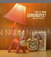 Free shipping Cute Animal Fabric lamp cartoon art lamp bedroom bedside lamp children room night light