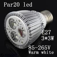 free shipping Bridgelux/Epistar Chip 110-240 volt E27 3*3 watt dimmable led par20 Par30 PAR38 spotlight bulbs lamp 10pcs/lot