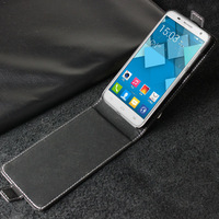 Hot Sale Luxury Genuine Leather Case Cover For Alcatel Idol 2 Mini S 6036Y 6036A Flip Leather Case UP And Down Cellphone Cover
