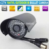 "Waterproof Video Surveillance 1/3"" SONY CCD 700TVL Security CCTV IR Bullet Camera"