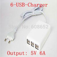6 USB-100-240V output:. 5V  6 A (U.S. regulations - EU - British regulations - AUS ) USB Travel Charger